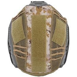 UK Arms Airsoft Maritime Tactical Mesh Helmet Cover - DIGITAL DESERT