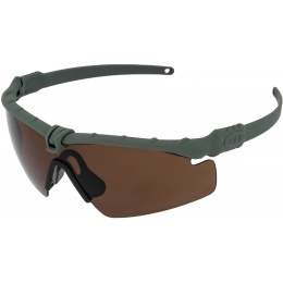 Airsoft Gray ANSI Z80 Shooting Glasses - TEA BROWN