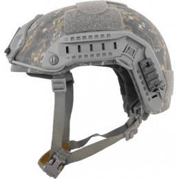 Lancer Tactical Airsoft Adjustable Maritime Helmet (MEDIUM) - WOODLAND CAMO