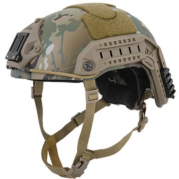 Lancer Tactical Adjustable Maritime Polymer Airsoft Helmet (M/L) - CAMO