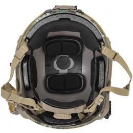 Lancer Tactical Adjustable Maritime Polymer Airsoft Helmet (M/L) - CAMO