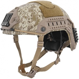Lancer Tactical Airsoft Adjustable Maritime Helmet (LARGE) - DESERT DIGITAL