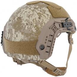 Lancer Tactical Airsoft Adjustable Maritime Helmet (LARGE) - DESERT DIGITAL