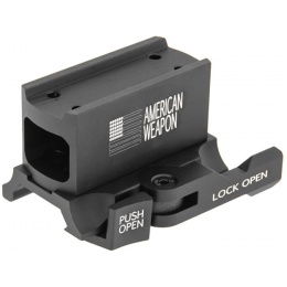 UK Arms Airsoft  Micro T1 Red Dot Riser Mount - BLACK