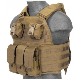 UK Arms Airsoft Tactical SPC Scalable Tactical Vest (Tan)