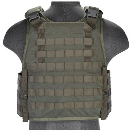 UK Arms Airsoft Tactical SPC Scalable Plate Carrier - SAGE