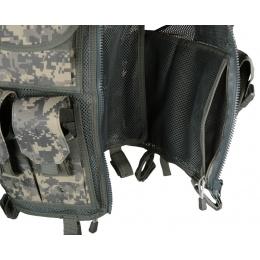 AMA Airsoft Cross-Draw Military Vest w/ Tactical Belt - ACU