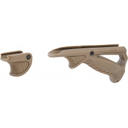 UK Arms Angled PTK Foregrip and Thumb Over Bore- TAN