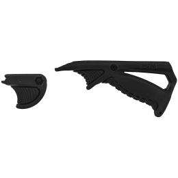 UK Arms Angled PTK Foregrip and Thumb Over Bore- BLACK