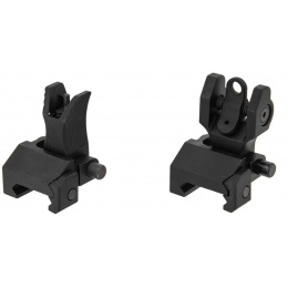 UK Arms Flip Up Battlesights for M4 Series Airsoft Rifle - BLACK