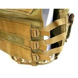 AMA Airsoft Cross-Draw Military Vest w/ Tactical Belt - DIGITAL DESERT