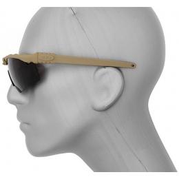 Airsoft Tan ANSI Z80 Shooting Glasses - TEA BROWN