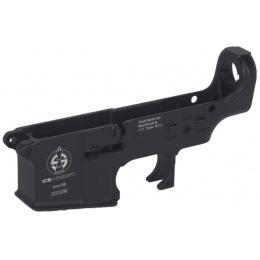 ICS Airsoft M4/M16 Series AEG Lower Receiver w/ ICS Logo - BLACK