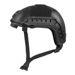 Firepower Airsoft Base Jump Style Helmet w/ Accessory RIS - BLACK