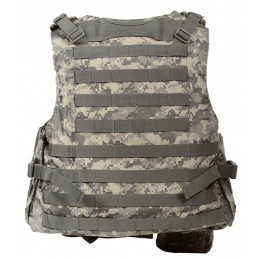 AMA Airsoft MOLLE Plate Carrier w/ 6 Pouches - ACU