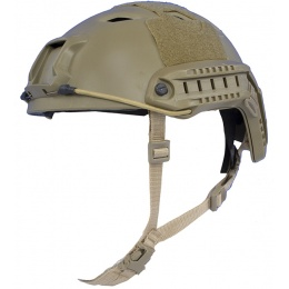 Firepower Airsoft Base Jump Style Helmet w/ Accessory RIS - TAN