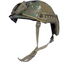 AMP Tactical Airsoft Parachute Jump Style Helmet w/ Rails - CAMO