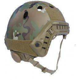 AMP Tactical Airsoft Parachute Jump Style Helmet w/ Rails - CAMO