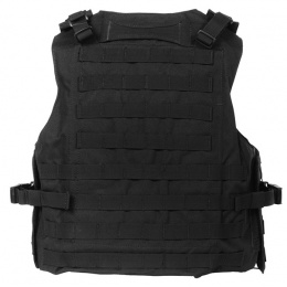 AMA Airsoft MOLLE Plate Carrier w/ 6 Pouches - BLACK