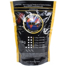 Bioval Airsoft 0.20g Bio Neutral Airsoft BB's - 5000rd Bag - WHITE