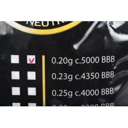 Bioval Airsoft 0.20g Bio Neutral Airsoft BB's - 5000rd Bag - WHITE