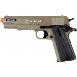 Colt Airsoft M1911 A1 Spring Powered Pistol Accessory Rail - TAN