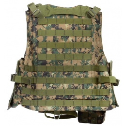 AMA Airsoft MOLLE Plate Carrier w/ 6 Pouches - DW