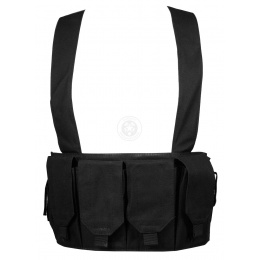 AMA 1000D Rugged 6x Magazine Pouch Tactical Chest Rig - BLACK