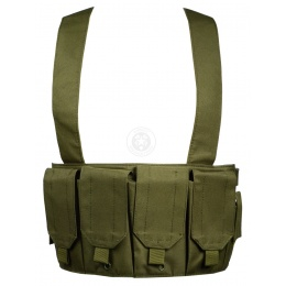 AMA 1000D Rugged 6x Magazine Pouch Tactical Chest Rig - OD GREEN