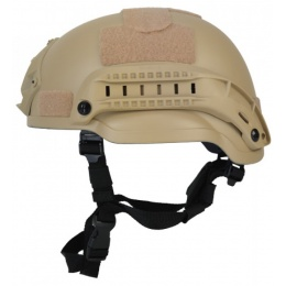Lancer Tactical MICH 2002 SF Type Tactical Helmet - TAN