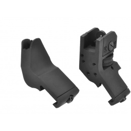 Lancer Tactical Quick Transition Offset Sights (Front and Rear) - BLACK