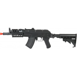 Lancer Tactical Tactical AK74U AEG w/ Full RIS Handguard - BLACK