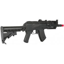 Lancer Tactical Tactical AK74U AEG w/ Full RIS Handguard - BLACK