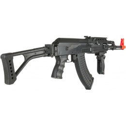 Lancer Tactical Airsoft Tactical AK47 AEG w/ Folding Stock - BLACK