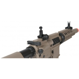 Lancer Tactical M4 SD AEG RIS Airsoft Rifle w/ Mock Suppressor - TAN
