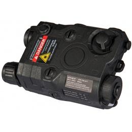 Lancer Tactical PEQ-15 Battery Case and Red Laser Designator - BLACK