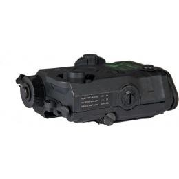 Lancer Tactical PEQ-15 LA-5 Battery Case w/ Green Laser Designator - BLACK