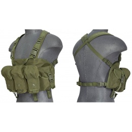 Lancer Tactical AK Airsoft Chest Rig - OD GREEN