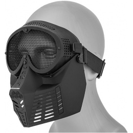 UK Arms Airsoft Tactical Full Face Mask w/ Wire Mesh Eye Protection