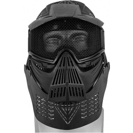 UK Arms Airsoft Tactical Face Mask w/ Visor Eye & Neck Protection
