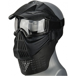 UK Arms Airsoft Tactical Face Mask w/ Lens, Visor and Neck Protection