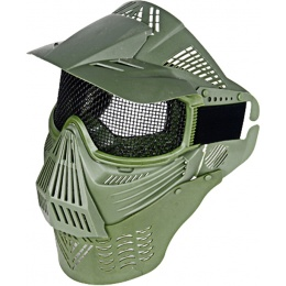 UK Arms Airsoft Tactical Face Mask w/ Visor, Neck and Eye Pro - OD