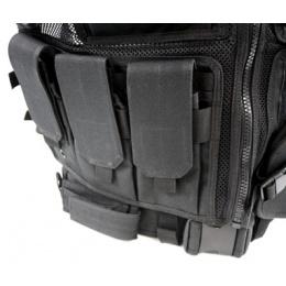 AMA Airsoft V2 Cross-Draw Military Vest w/ Tactical Belt - BLACK