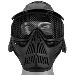 UK Arms Airsoft Tactical Face Mask w/ Visor and Eye Protection - BLK