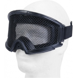 UK Arms Airsoft Tactical Protective Metal Wired Mesh Goggles - BLACK