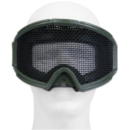 UK Arms Airsoft Tactical Protective Metal Wired Mesh Goggles - GREEN