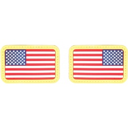 AMA Airsoft U.S. Flag Forward/Reverse Rubber Patch Set