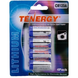 Tenergy Airsoft CR123A High Peak 3.0V 1300 mAh Lithium Battery Pack