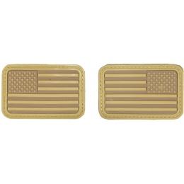 AMA Airsoft U.S. Flag Forward/Reverse Patch Set - TAN