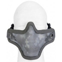 UK Arms Airsoft Tactical Metal Mesh Half Mask - ACU PRINT